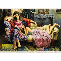 تابلو فرش مهر خواهری کد 11217