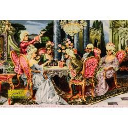 تابلو فرش مهمانی فرانسوی کد 11246