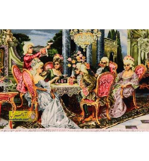 تابلو فرش مهمانی فرانسوی