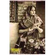 تابلوفرش دختر و گلستان سعدی 11298