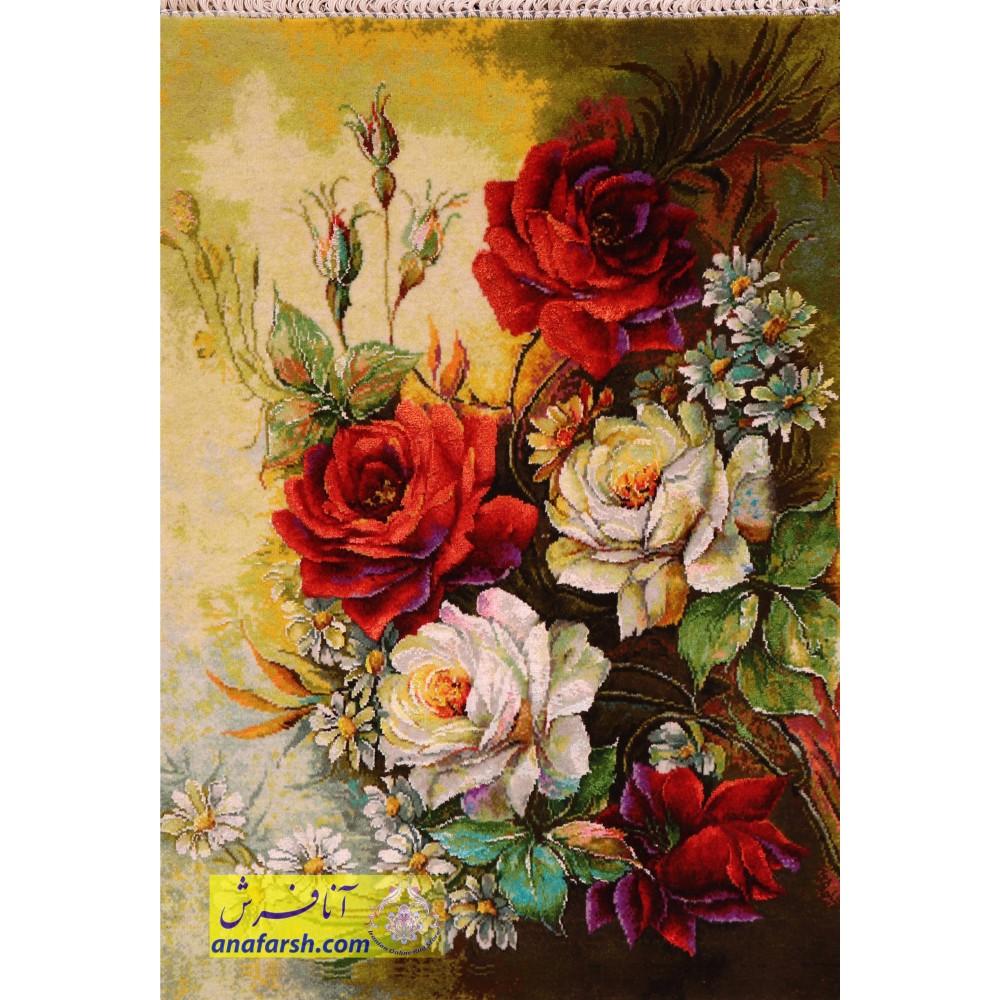تابلوفرش دستباف گل رز