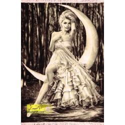 تابلو فرش دختر ماه کد 11318