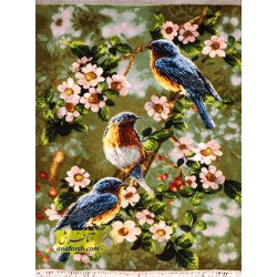 تابلو فرش سه پرنده کد 11321
