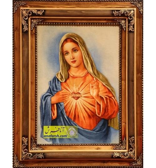 تابلو فرش حضرت مریم