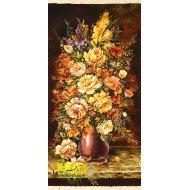 تابلو فرش گل و گلدان کد 11370