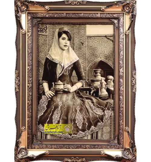 Qajar girl Tableau Carpets