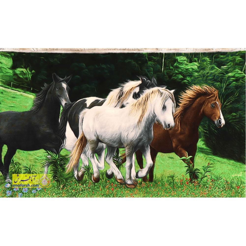 Horse tableau carpets