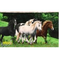 تابلو فرش گله اسب کد 11390