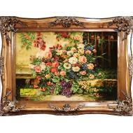 تابلوفرش گل و میوه کد 11391