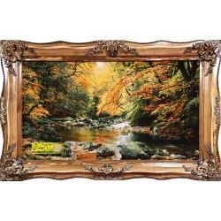 تابلو فرش جنگل و رودخانه کد 11392