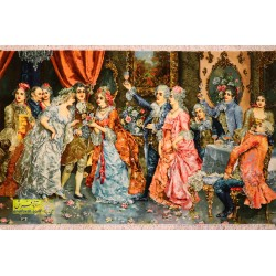 تابلو فرش مهمانی اشرافی کد 11410