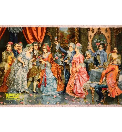 تابلو فرش مهمانی اشرافی