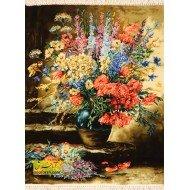 تابلو فرش گل و گلدان کد 11411