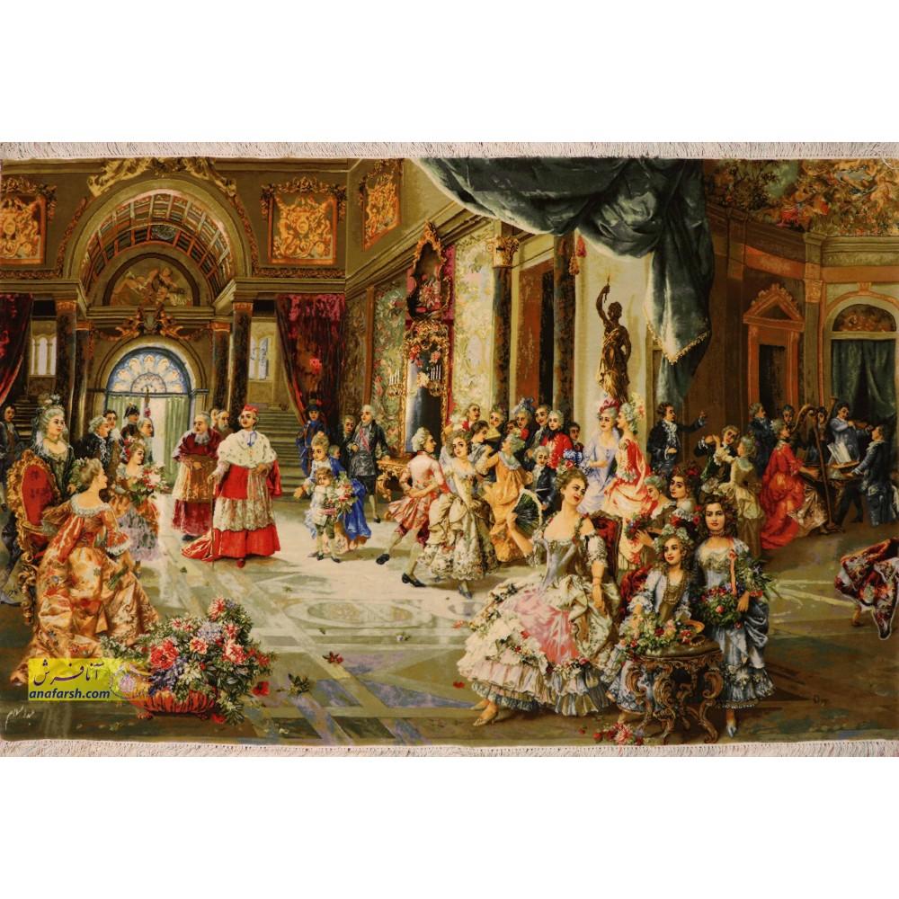 تابلو فرش دستباف  مهمانی پاپ