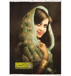 تابلو فرش دختر هندی کد 11465