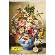 تابلوفرش گل و گلدان کد 11466