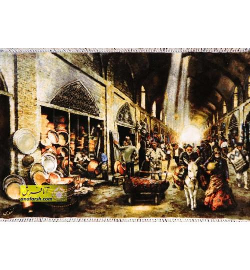 تابلو فرش مسگر بازاری کد 11467