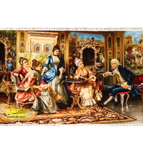 تابلو فرش شاعر جوان کد 11471