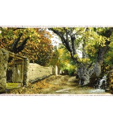 تابلو فرش کوچه باغ کد 11475