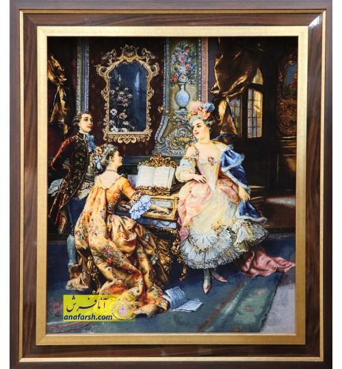 تابلوفرش پیانو زن کد 11478
