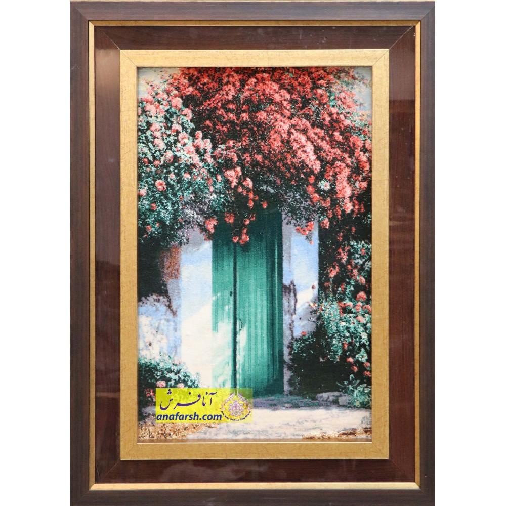 تابلو فرش درب بهشت دستباف تبریز