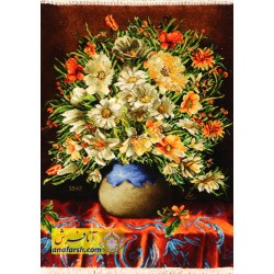 تابلوفرش گل و گلدان کد 11482