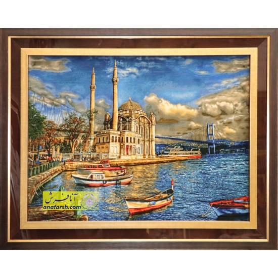 تابلوفرش منظره استانبول کد 11485