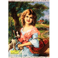 تابلو فرش دختر امیلی کد 11498