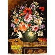 تابلوفرش گل و گلدان کد 11526
