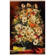 تابلوفرش گل و گلدان کد 11557