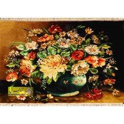تابلوفرش گل و گلدان کد 11558