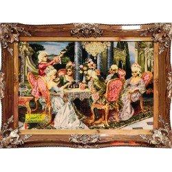 تابلو فرش مهمانی فرانسوی کد 11570