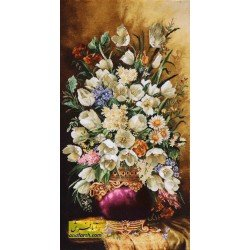 تابلوفرش گل طولی کد 11574