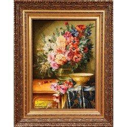 تابلوفرش گل و گلدان کد 11575