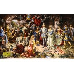 تابلو فرش تاج گذاری کد 11602