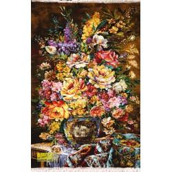 تابلوفرش گل و گلدان کد 11607