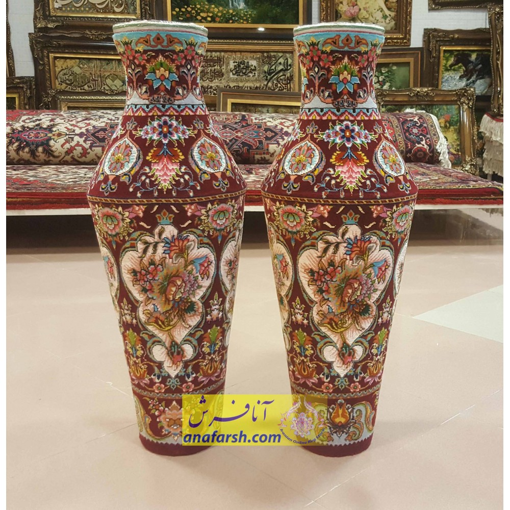 Silk Carpet Jug Mass- Dark Red