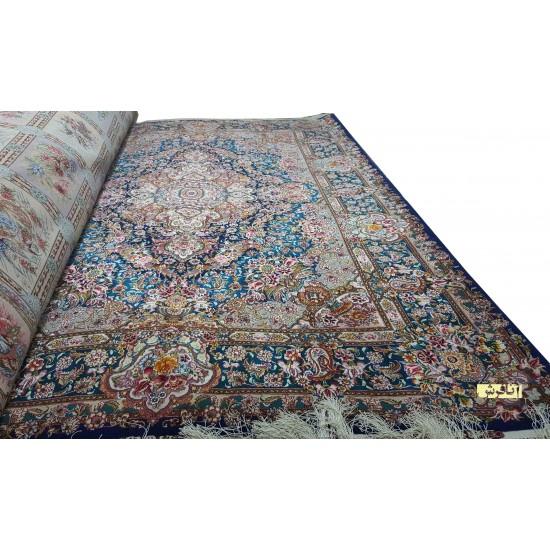 فرش دستباف شش متری سالاری کف ابریشم