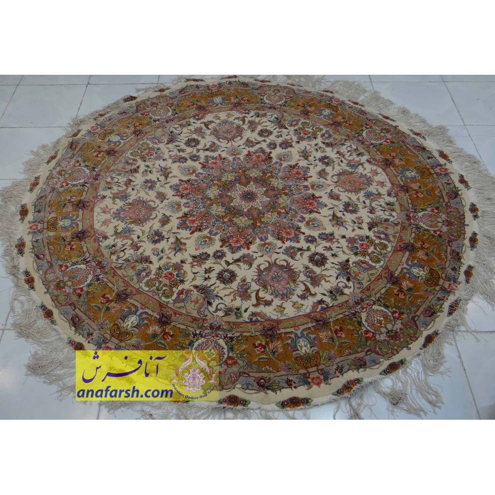 Circle Tabriz Carpet