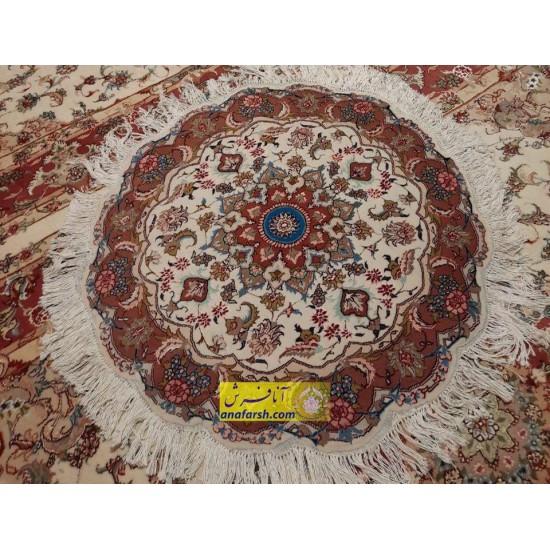فرش دایره گل مهر